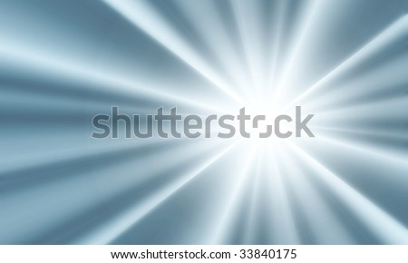Digitally created background with a burst of light-blue light.