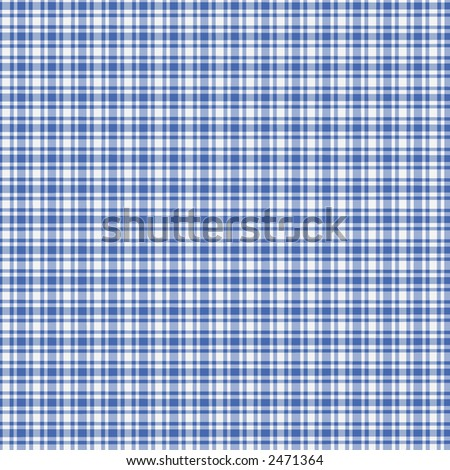 Digitally created blue and white plaid - stock photo