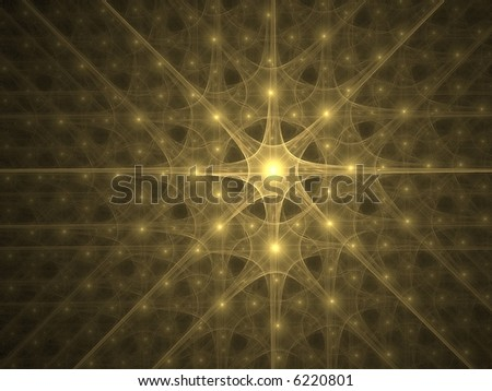 Digitally created explosion of light - stock photo
