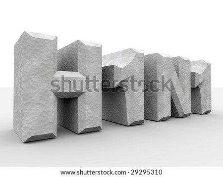 Digitally created word H1N1 with concrete texture. - stock photo