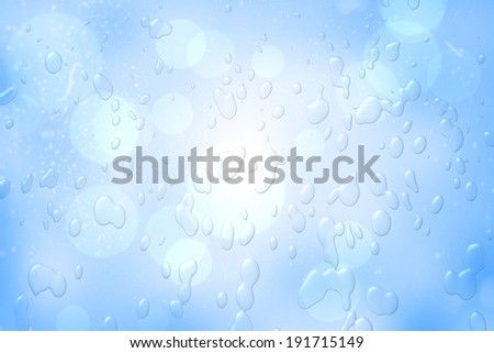 Digitally generated blue water drop pattern with circles
