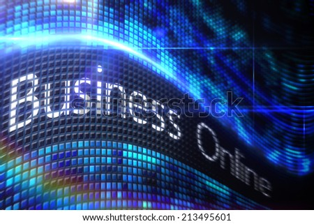Digitally generated Business online on digital screen