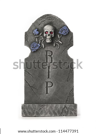 Digitally generated image of a tombstone. - stock photo