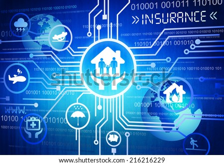 Digitally Generated Image of Insurance Concept - stock photo