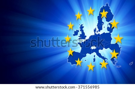 Digitally generated map of European Union with copy space. - stock photo