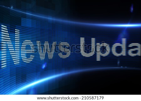 Digitally generated News update on digital screen