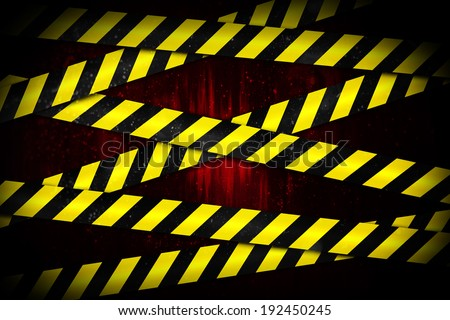 Digitally generated yellow and black cordon tape