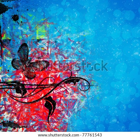 Digitally handpainted  abstract. Nice background for your projects