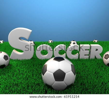 Digitally rendered scene with Soccer logo/Soccer Season