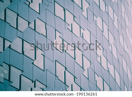 digitally transformed photo of modern office building. Business background. - stock photo