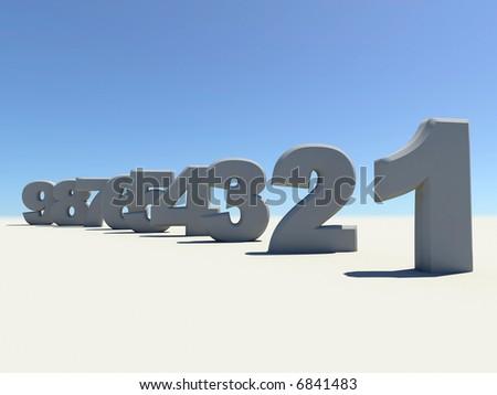 digits - stock photo