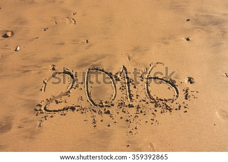 digits in the sand in 2016