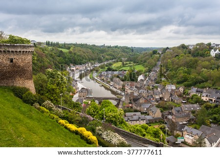 Dijon, a medieval pearl of Brittany. France - stock photo