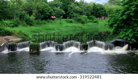 dike water river - stock photo