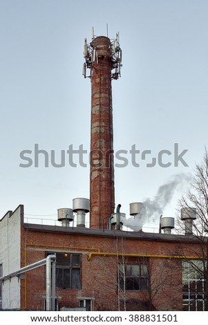 dilapidated bricks chimney