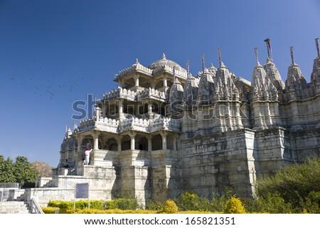 Dilwara Jain Temple  - stock photo