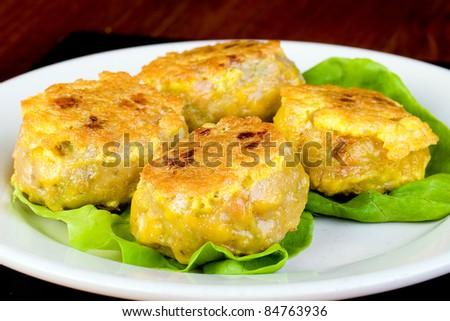 Dim Sum corn cake - stock photo