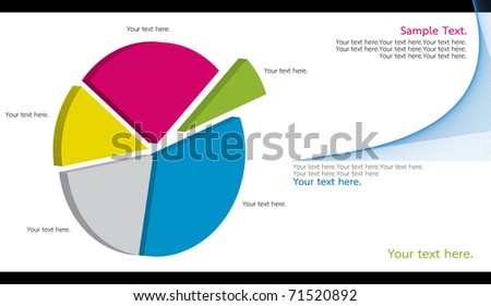 dimension Pie chart - stock photo