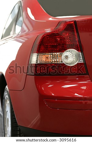 Dimensional lanterns of the red modern car