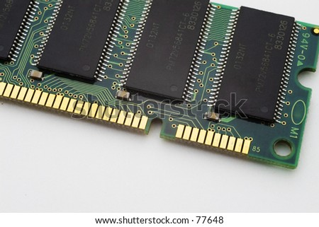 DIMM memory module for PC - stock photo