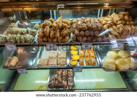 Dimsum at Chinatown market, Singapore - stock photo