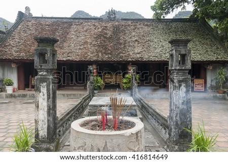 Dinh Tien Hoang temple in Hoa Lu, Vietnam