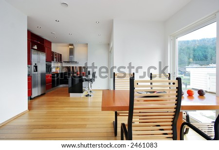 Dining area - stock photo