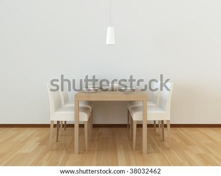 dining room - stock photo