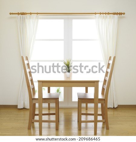 dining room abstract - stock photo