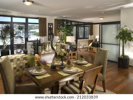 Dining Room Architecture Stock Images,Photos of Living room, Bathroom,Kitchen,Bed room, Office, Interior photography. Architectural Photos by Frank Short.  - stock photo