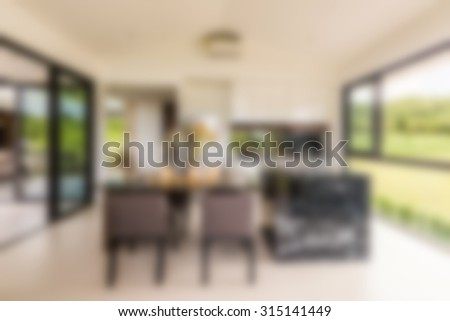 dining room blurred background - stock photo