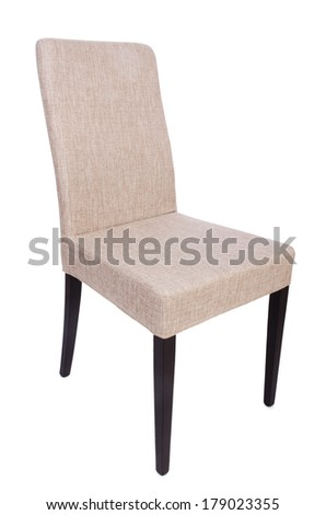 Dining room chair isolated on white - stock photo