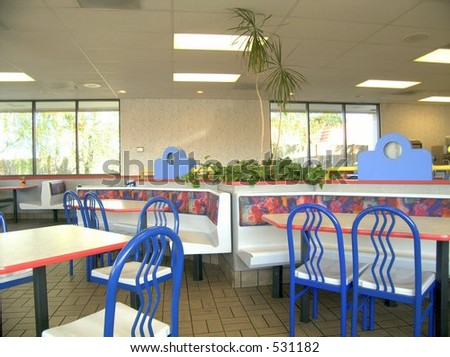 Dining room, fast food - stock photo