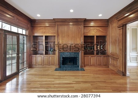 Dining room in remodeled home - stock photo