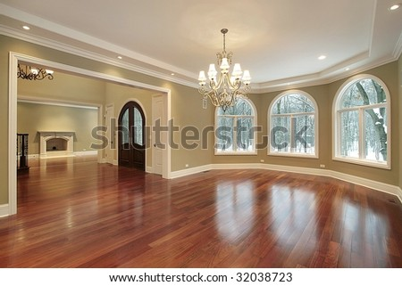 Dining room with foyer view - stock photo
