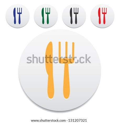 Dining symbol. - stock photo
