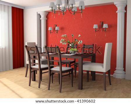 Chair against wall stock photos images pictures - Dining table against the wall ...