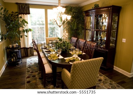 dining table with modern decor