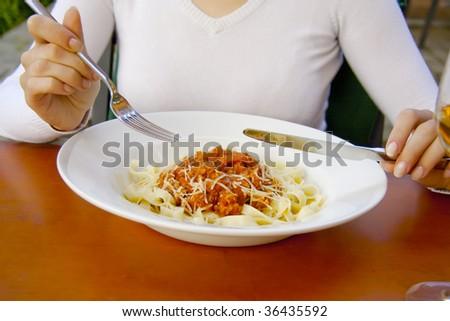 Dinner. - stock photo