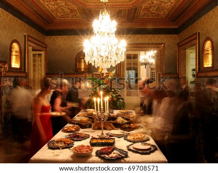 Dinner at a palace