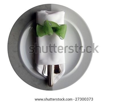dinner plate - stock photo