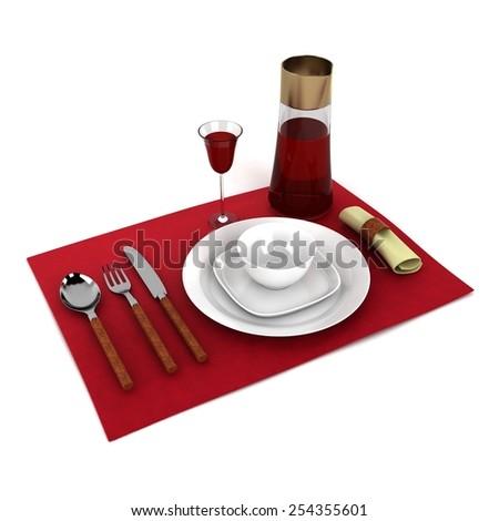 Dinner Set - stock photo