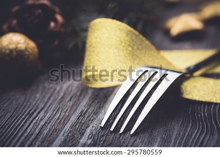 Dinner, setting, banquet. - stock photo