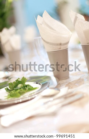 dinner table - stock photo