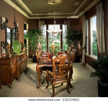 Dinning Room with Living Room Architecture Stock Images,Photos of Living room, Bathroom,Kitchen,Bed room, Office, Interior photography. - stock photo