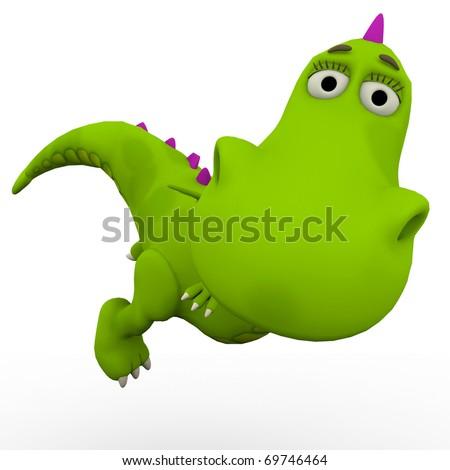dino baby dragon casual look - stock photo