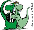 Dino just married - stock photo