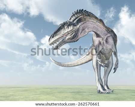 Dinosaur Acrocanthosaurus Computer generated 3D illustration - stock photo