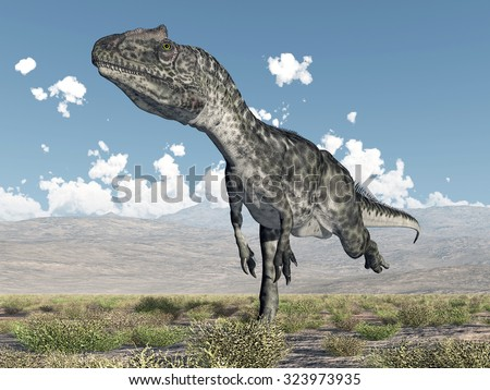 Dinosaur Allosaurus Computer generated 3D illustration