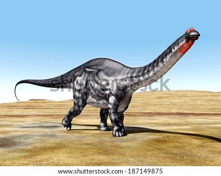 Dinosaur Apatosaurus Computer generated 3D illustration - stock photo